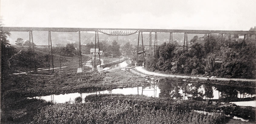 Pittsburgh Akron & Western Railroad Trestle 1891